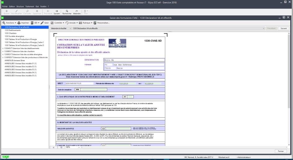 Saisie des formulaires CVAE
